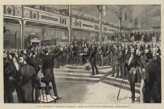 The Sydney International Exhibition, the Opening Ceremony--Giclee Print