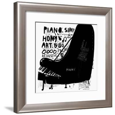 The Symbolic Image of a Piano on White Background-Dmitriip-Framed Premium Giclee Print