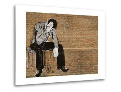 The Symbolic Image of the Man Who Sat down to Rest-Dmitriip-Metal Print