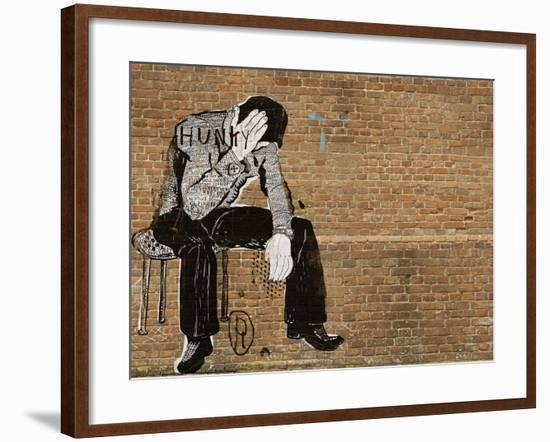 The Symbolic Image of the Man Who Sat down to Rest-Dmitriip-Framed Art Print