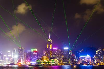 The Symphony of Lights Light and Laser Show over Hong Kong-Mike Theiss-Photographic Print