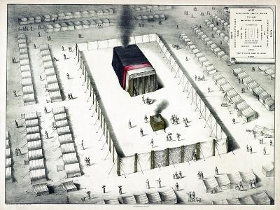 The Tabernacle in the Wilderness, and Plan of the Encampment, Published 1850-John Henry Camp-Giclee Print
