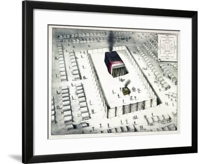 The Tabernacle in the Wilderness, and Plan of the Encampment, Published 1850-John Henry Camp-Framed Giclee Print