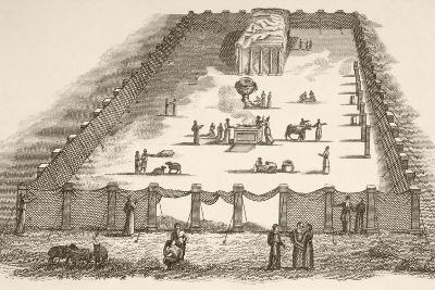 The Tabernacle in the Wilderness Including the Court of the Tabernacle--Giclee Print