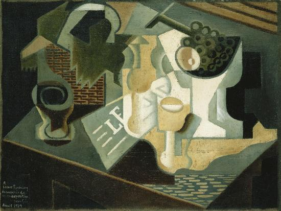 The Table in Front of the Building; La Table Devant Le Battiment, 1919-Juan Gris-Giclee Print