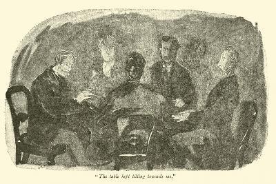 """The Table Kept Tilting Towards Me""-Weedon Grossmith-Giclee Print"