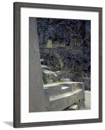 The Table of Tenders in the Temple of the Sun in the Fortress of Ollantaytambo--Framed Giclee Print