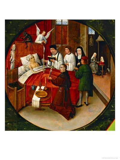 The Table of the Seven Deadly Sins, Death, Detail-Hieronymus Bosch-Giclee Print