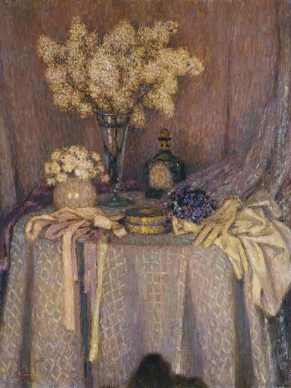 The Table, Purple Harmony; La Table, Harmonie Mauve, 1927-Henri Eugene Augustin Le Sidaner-Giclee Print