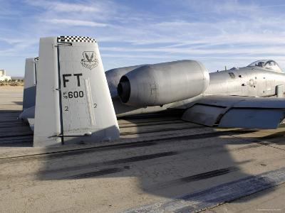 The Tail Section of an A-10 Making Direct Contact with Runway-Stocktrek Images-Photographic Print