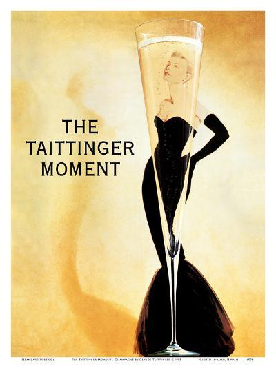 The Taittinger Moment - Champagne Advertisement featuring actress Grace Kelly-Claude Taittinger-Art Print