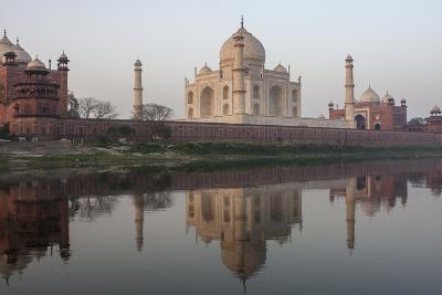 The Taj Mahal, and its Reflection in the Yamuna River-Jonathan Irish-Photographic Print