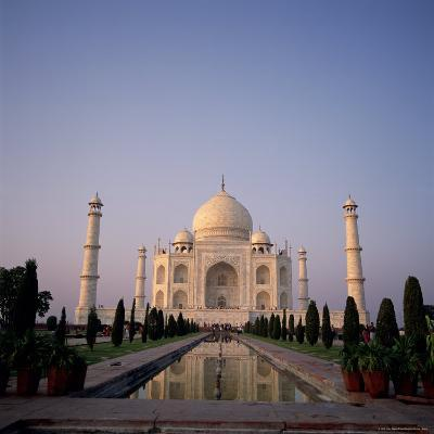 The Taj Mahal at Dawn, Agra, Uttar Pradesh, India-Tony Gervis-Photographic Print