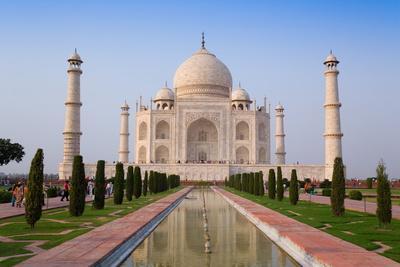 The Taj Mahal, UNESCO World Heritage Site, Agra, Uttar Pradesh, India, Asia-Gavin Hellier-Premium Photographic Print