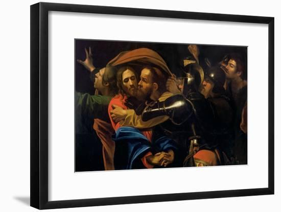 The Taking of Christ-Caravaggio-Framed Giclee Print
