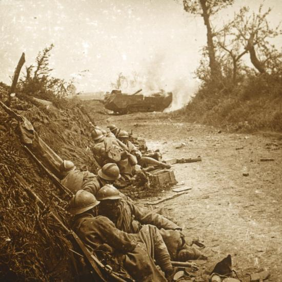 The taking of Courcelles, northern France, June 1918-Unknown-Photographic Print