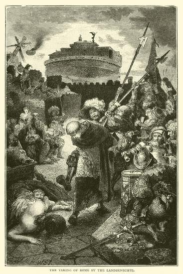 The Taking of Rome by the Landsknechte--Giclee Print