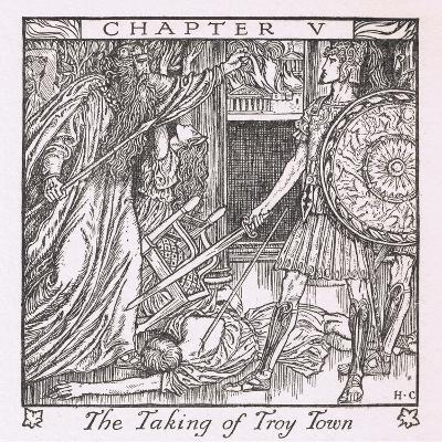 The Taking of Troy Town-Herbert Cole-Giclee Print