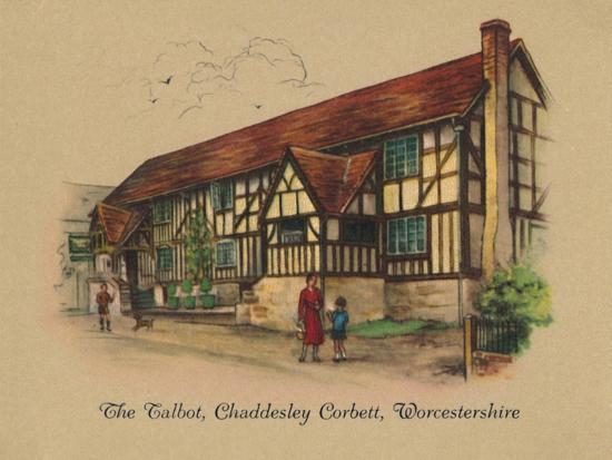 'The Talbot, Chaddesley Corbett, Worcestershire', 1939-Unknown-Giclee Print