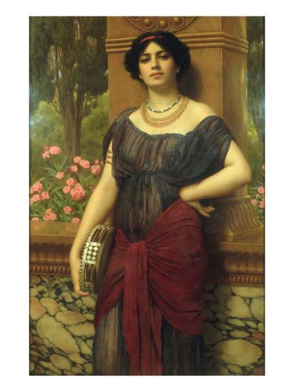 The Tambourine Girl, 1909-John William Godward-Giclee Print