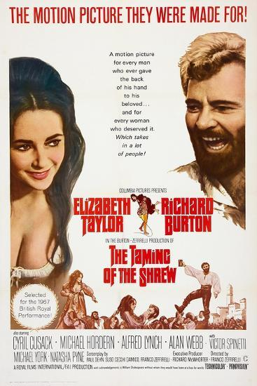 The Taming of the Shrew, from Left: Elizabeth Taylor, Richard Burton, 1967--Art Print