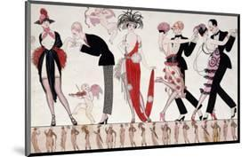The Tango-Georges Barbier-Mounted Premium Giclee Print