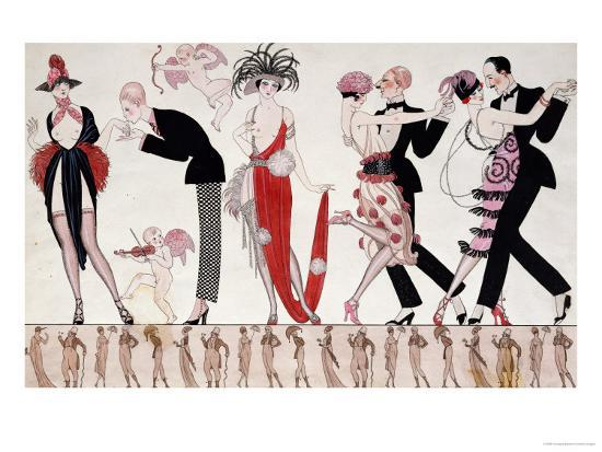 The Tango-Georges Barbier-Giclee Print