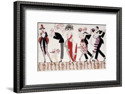 The Tango-Georges Barbier-Framed Giclee Print