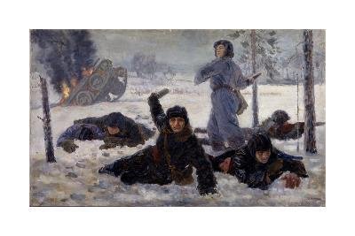 The Tank Crew Fighting, 1940S-Yekaterina Sergeyevna Zernova-Giclee Print