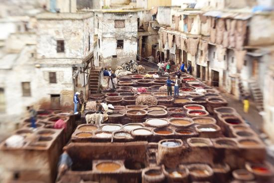 The Tannery in Fez, Morocco Photographic Print by Peter Adams   Art com