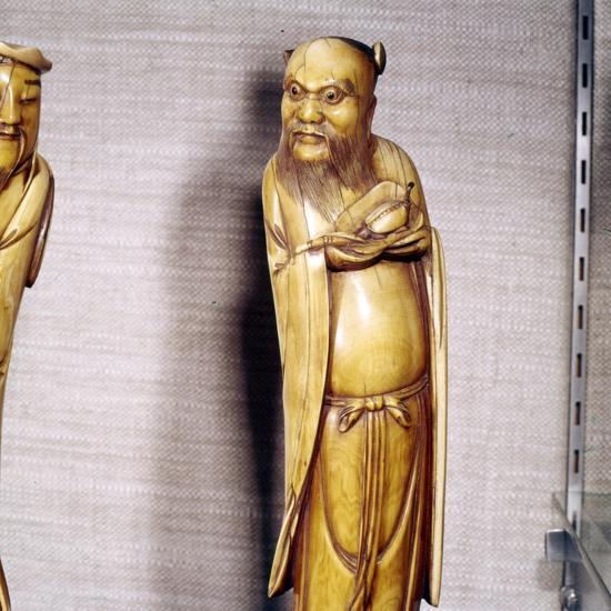 The Taoist Immortal, Chung Li Ch'Uan, Chinese Ivory, Ming Dynasty, 17th century-Unknown-Giclee Print