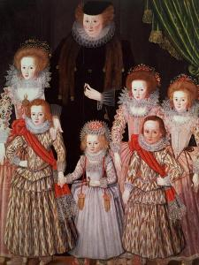 The Tasburgh Group: Lettice Cressy, Lady Tasburgh of Bodney, Norfolk and Her Children, circa 1605