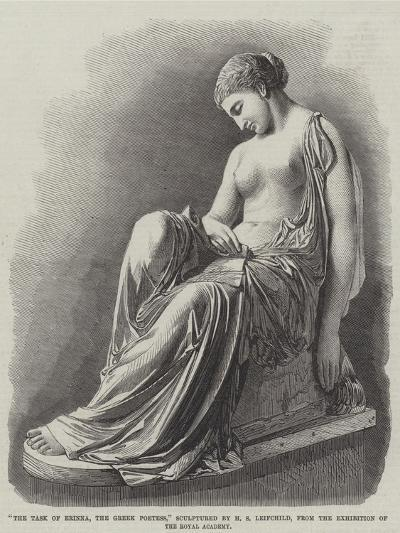 The Task of Erinna, the Greek Poetess, Sculptured by H S Leifchild--Giclee Print
