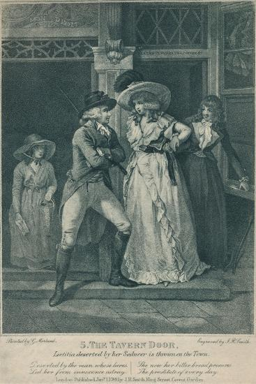 'The Tavern Door: Laetitia Deserted By Her Seducer is Thrown on the Town', 1789-Otto Limited-Giclee Print