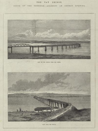 The Tay Bridge, Scene of the Terrible Accident on Sunday Evening--Giclee Print