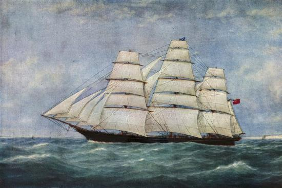 'The Tea Clipper Spindrift', (1938)-Unknown-Giclee Print