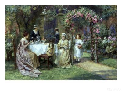 The Tea Party-George S. Knowles-Giclee Print