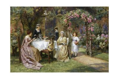 The Tea Party-George Sheridan Knowles-Giclee Print