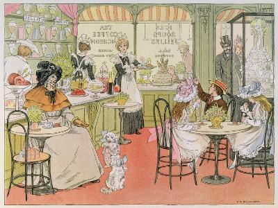The Tea Shop, from The Book of Shops, 1899-Francis Donkin Bedford-Giclee Print