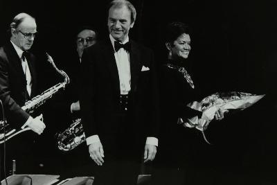 The Ted Heath Orchestra in Concert at the Forum Theatre, Hatfield, Hertfordshire, 18 November 1983-Denis Williams-Photographic Print