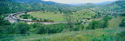 The Tehachapi Train Loop Near Tehachapi California--Photographic Print