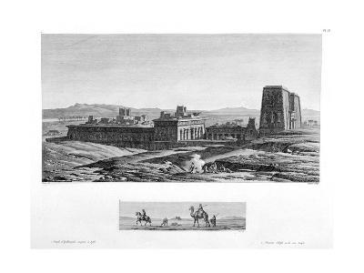 The Temple at Apollinopolis Magna, Etfu (Edf), Egypt, C1808- Baltard-Giclee Print