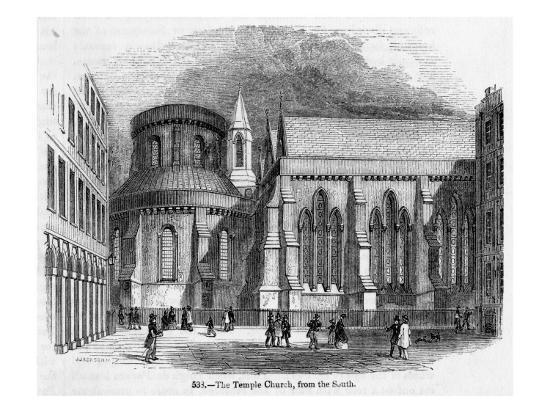 The Temple Church--Giclee Print