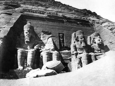 The Temple of Abu Simbel, Nubia, Egypt, 1878-Felix Bonfils-Giclee Print