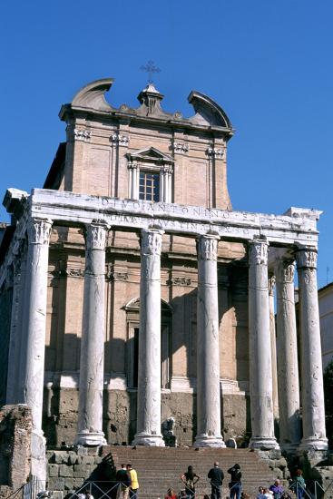 The Temple of Antoninus and Faustina, Rome, 141 Ad--Photographic Print