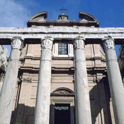 The Temple of Antoninus and Faustina, Rome--Photographic Print