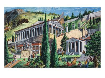 The Temple of Apollo at Delphi-Giovanni Ruggero-Giclee Print