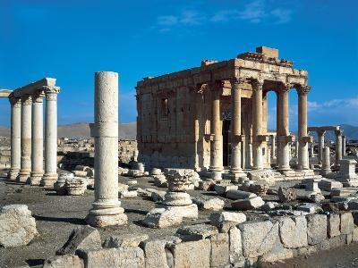 The Temple of Baal Shamin in Palmyra--Photographic Print