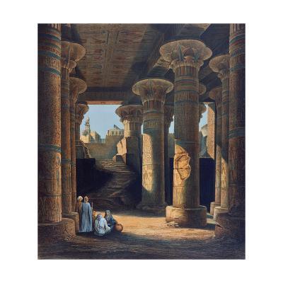 The Temple of Esneh, 19th Century-E Weidenbach-Giclee Print