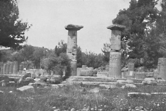 'The Temple of Hera at Olympia', 1913-Unknown-Photographic Print